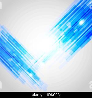 Bleu résumé des lignes droites, fond vecteur stock Banque D'Images
