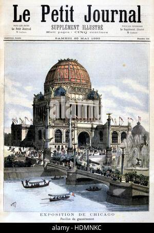 'Le Petit Journal' Paris 20 mai 1893 - Exposition de Chicago, 1893 - US pavilion Banque D'Images