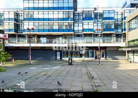 Centre Commercial arcades et l'Hill House avant le réaménagement par Bode, Islington, Londres, Royaume-Uni Banque D'Images