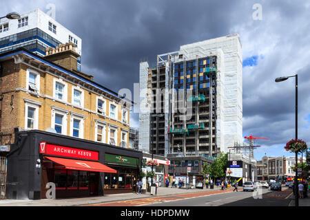 Tour d'Archway, au nord de Londres, avant d'être enveloppée par réaménagement indispensable Vie comme 'Vantage Point' Banque D'Images