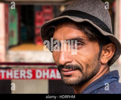 Portrait d'un ouvrier manuel, Amritsar, Punjab, India Banque D'Images