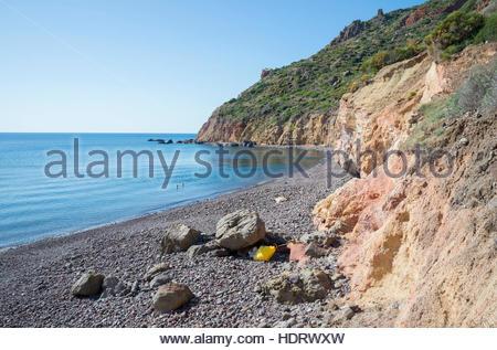 Valle Muria, Lipari, Les Îles, UNESCO World Heritage Site, Sicile, Italie, Méditerranée, Europe Banque D'Images