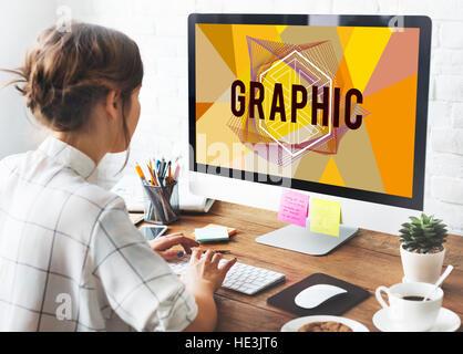 Idées de couleurs Concept Design créatif Banque D'Images