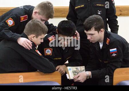Omsk, Russie. 14Th Dec 2016. Les Cadets de l'Omsk Corps de cadets. © Dmitri Feoktistov/TASS/Alamy Live News Banque D'Images
