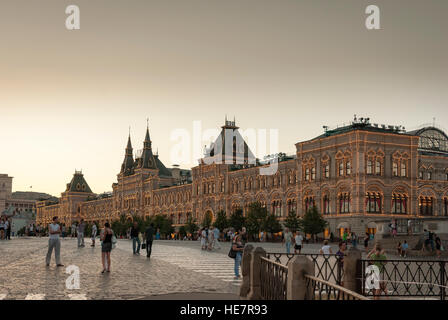 Du grand magasin GUM sur la Place Rouge à Moscou Banque D'Images