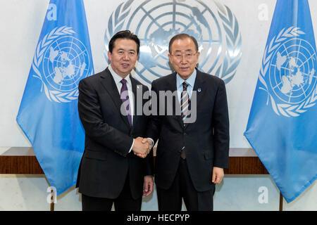 Organisation des Nations Unies, New York, USA. Dec 19, 2016. Le Secrétaire Général des Nations Unies Ban Ki-moon Banque D'Images