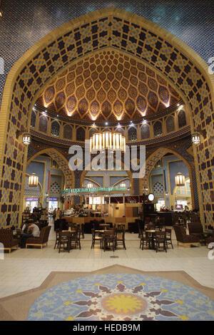 Café Starbucks, l'Égypte, Ibn Battuta Shopping Mall, Dubai, Émirats arabes unis, ÉMIRATS ARABES UNIS, Moyen Orient Banque D'Images