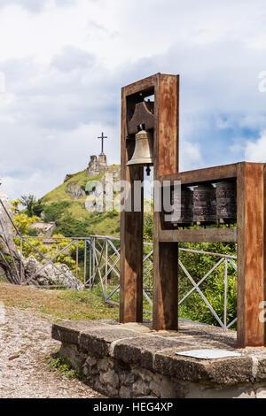 Moulins à prière, Dalaï-lama, à San Marino Montegridolfo, Adriatique, Rimini, Italie, Banque D'Images