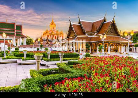 Temple Wat Ratchanatdaram à Bangkok, Thaïlande. Banque D'Images