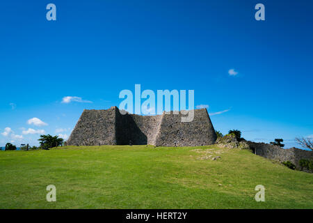 Ruines de Nakagusuku Castle, Okinawa, Japon Banque D'Images
