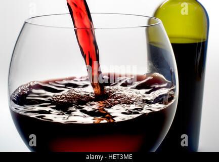 verre à vin Banque D'Images
