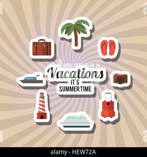 Vacances icône concevoir Banque D'Images