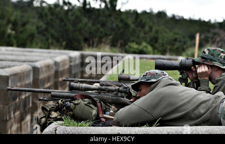 Presse0255-2004-13 CAMP HANSEN, Okinawa, Japon - Le Sgt. Shannon C. Vallières, réaction, l'Équipe spéciale du Bureau Banque D'Images