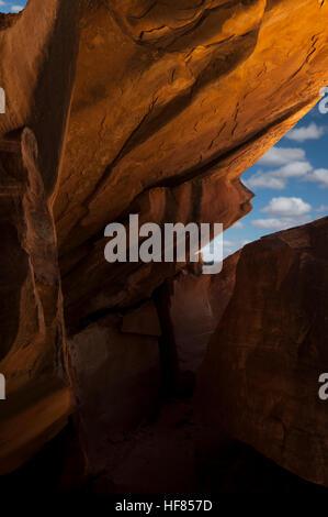 Un regard à travers l'image de la maison en feu ruines Anasazi dans le S.E. L'Utah. Partie de la nouvelle porte Banque D'Images