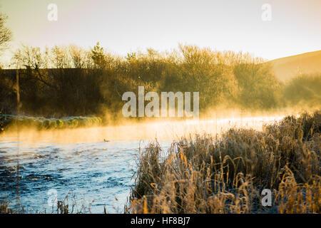 Pays de Galles Aberystwyth UK, le mercredi 28 décembre 2016 Météo France: le froid et frosty matin à Aberystwyth, Banque D'Images