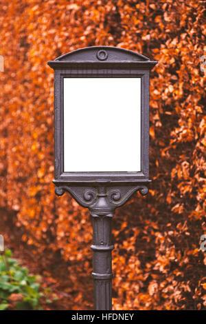 Image de cadre en fonte décorative à l'extérieur. Banque D'Images