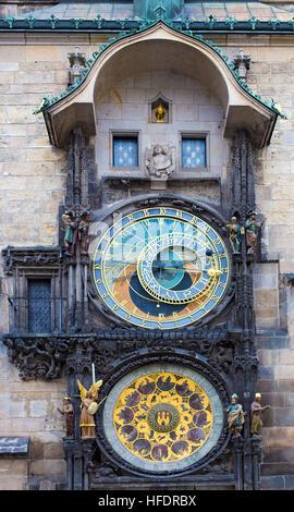 Horloge astronomique de Prague République Tchèque Banque D'Images
