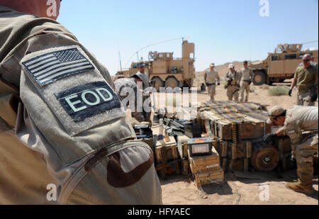100716-N-0879R-943 SHAMMAR JARBA, l'Iraq (16 juillet 2010) Les marins de la Marine affecté à l'unité mobile de destruction Banque D'Images