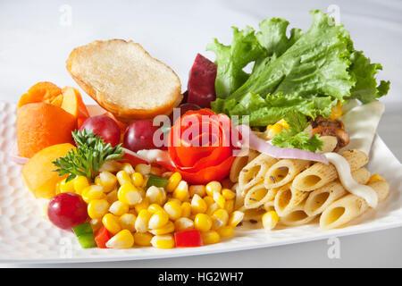 La nourriture indienne , Pâtes Banque D'Images