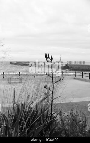 Paysage de rue à Roker Pier et le phare (1903) à Roker, Sunderland