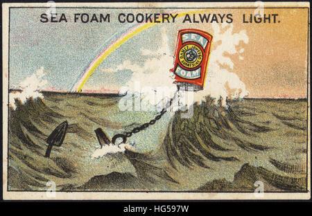 Carte du commerce de cuisson - cuisine mousse de mer toujours la lumière. Banque D'Images