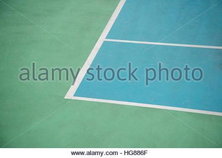Angle de marquage dans tennis Banque D'Images