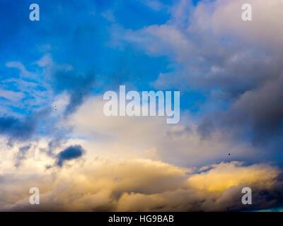 Les nuages blancs de fond et la texture. Banque D'Images