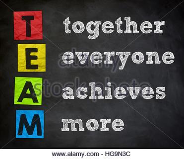 Team - Ensemble tout le monde obtient plus Banque D'Images