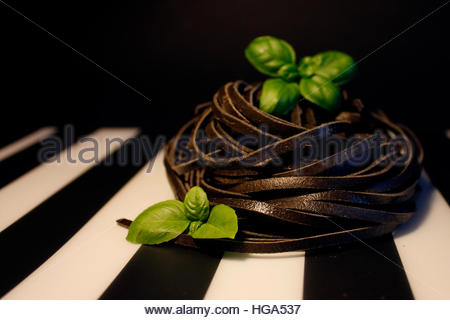 Pâtes noires Banque D'Images