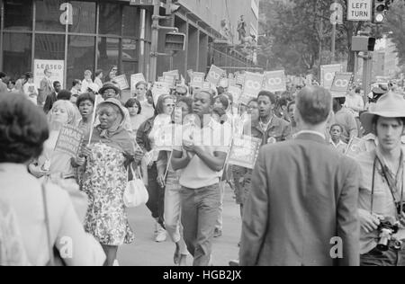 Les manifestants dans la Poor People's Mars à Lafayette Park, à Washington, D.C., 1968. Banque D'Images