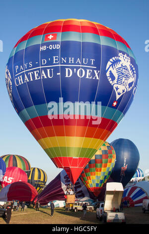 HB-QUD Chateau D'Oex Cameron Hot Air Balloon à Bristol International Balloon Fiesta 2016 Banque D'Images