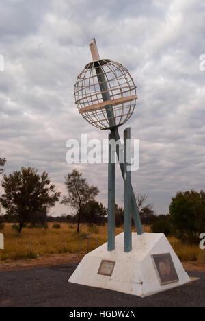Cadran solaire de fer dans le Territoire du Nord, Australie Banque D'Images