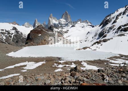 Laguna de los Tres et le Mont Fitz Roy, El Chalten, Patagonie, Argentine, Amérique du Sud