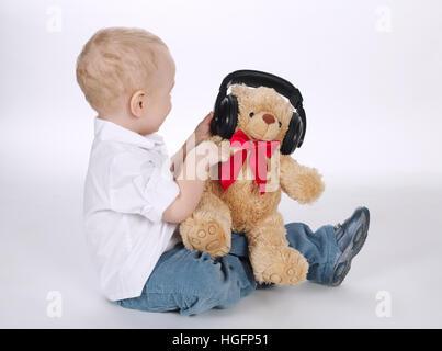 Sweet baby portrait avec le casque