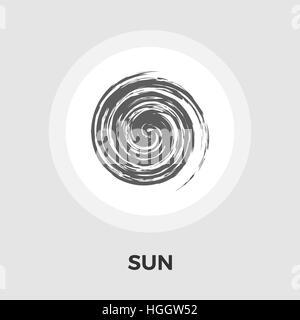 Icône soleil vecteur. L'icône bien à plat. Bien droit. Bien Icône Objet. L'icône de la ligne du soleil. Icône soleil Banque D'Images