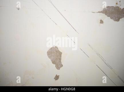La texture du mur de béton vieux fissuré Banque D'Images