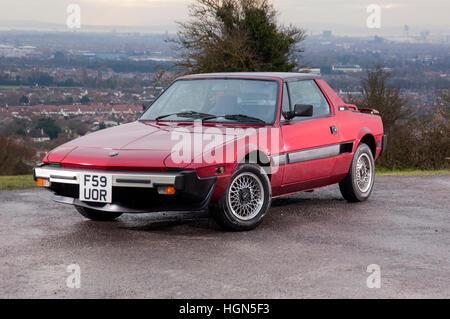 1988 Fiat X1/9 à moteur mi voiture de sport, conçu par Bertone Banque D'Images