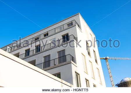 Appartement moderne à Berlin, Allemagne Berlin construction homeresidential famille multi family apartment house Banque D'Images