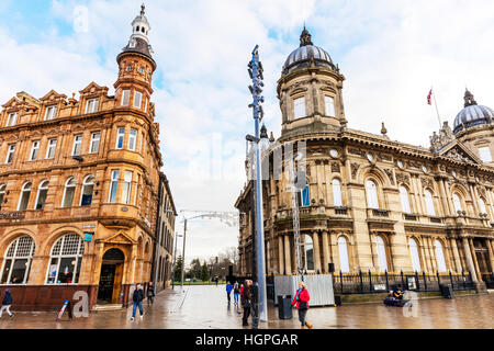 Le centre-ville de Hull historique histoire bâtiments Kingston Upon Hull City East Riding of Yorkshire UK Angleterre Banque D'Images