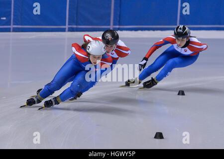 Torino, Italie. 12 Jan, 2017. Alica Porubská en action au cours de l'entraînement pour la Slovaquie National Européen Banque D'Images