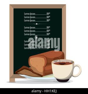 Le petit-déjeuner menu du restaurant