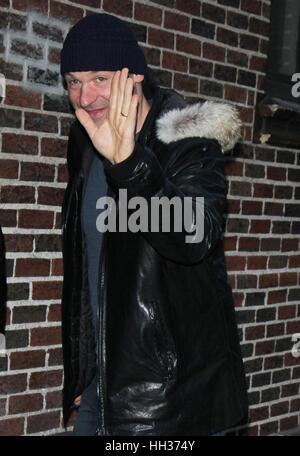 New York City, USA. 16 janvier, 2017. Corey Stoll à 'La fin du Show avec Stephen Colbert' dans la ville de New York. Credit: Rw/media/Alamy Punch Live News