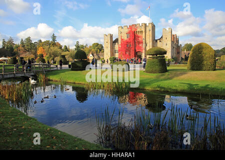 La 2ème femme d'Henry VIII, Anne Boleyn, hone, Hever Castle, dans la campagne du Kent, en Angleterre, Royaume-Uni Banque D'Images