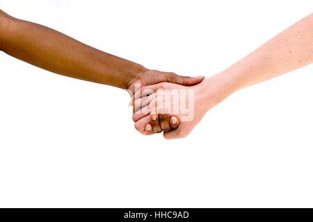Groupe de personnes Divese holing mains. Multiculturel. Banque D'Images