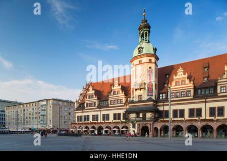 Ancien hôtel de ville (Altes Rathaus), Leipzig, Saxe, Allemagne Banque D'Images