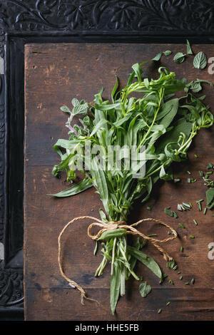 Ensemble d'herbes italiennes fraîches Banque D'Images