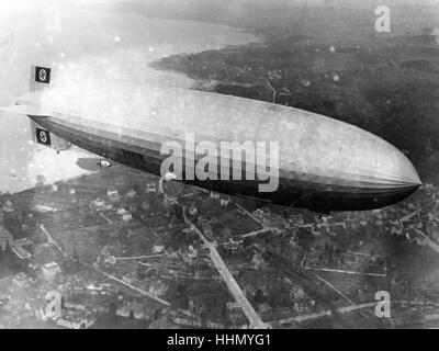 La catastrophe du Hindenburg, lakehust Naval Air Station, New Jersey, USA, 1937 Banque D'Images
