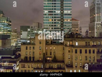Détail de l'image NEW YORK skyline au centre ville de Manhattan qui comprend des bureaux et des immeubles dans la Banque D'Images