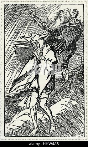 """Le Roi Lear de William Shakespeare. Illustration par Arthur Rackham (1867 - 1939) . """"Il y a un champ, exposés à Banque D'Images"""