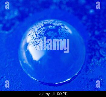 Frozen Bubble soap sur un fond bleu